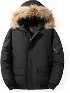 Winter Men's Down Jacket Big Fur Collar Short Jacket Duck Down Coat Male Clothes