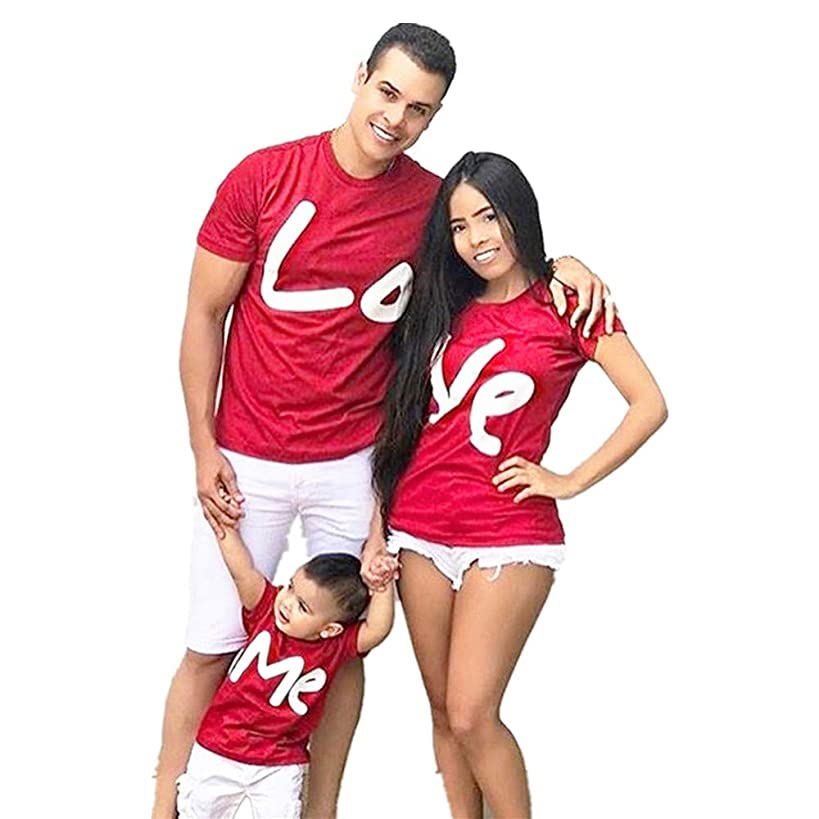 SiQing 2019 Family Matching Valentine T-Shirt Men Women Kids Letter Print Love ME Birthday Wedding Tops Clothes Outfit