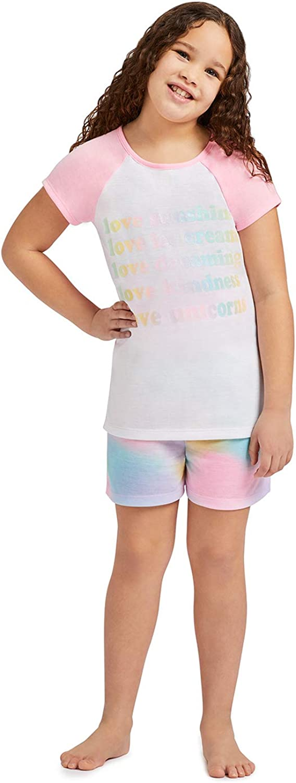 Girls 3 Piece Pajama Sleep Set with Pants and Shorts