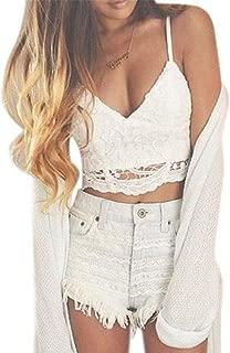 Women Crochet Tank Camisole Lace Vest Bra Crop Top