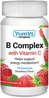 B-Complex with Vitamin C Gummies by YumV's | Daily Dietary Supplement for Adults and Kids | B6, B12, Vitamin C, Folic Acid...