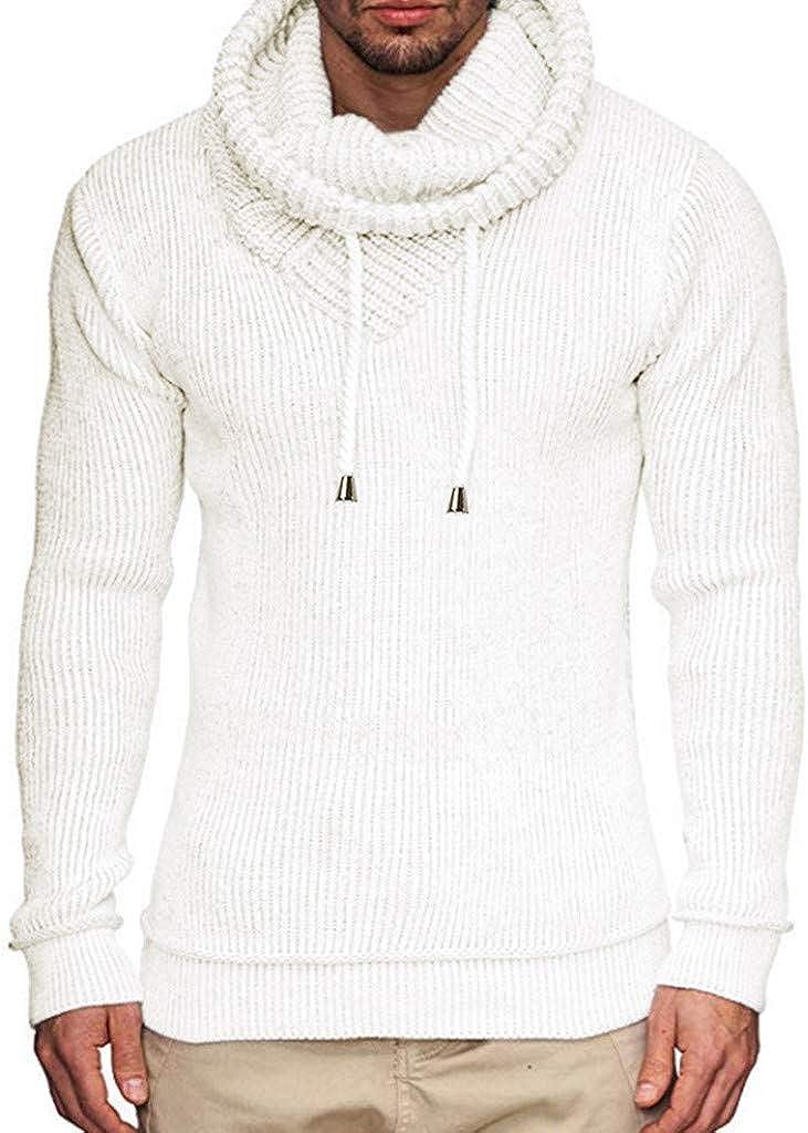 MODOQO Men's Hoodies Sweater Long Sleeve Knitted Pullover Sweatshirt Tops