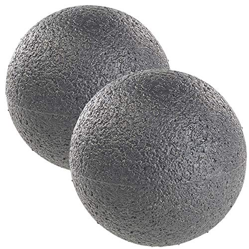newgen medicals Selbstmassageball: 2er Pack Massage-Ball und Faszien-Trainer für Rücken & Co, Ø 8 cm (Massageball)