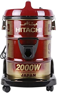 Hitachi CV950Y24CBSWR 18 Liter Corded Canister Vacuum Cleaner Red