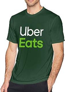 メンズuber Eats Tシャツ 半袖 ファッション 丸襟 柔らかい クラシックな速乾性綿 Tee
