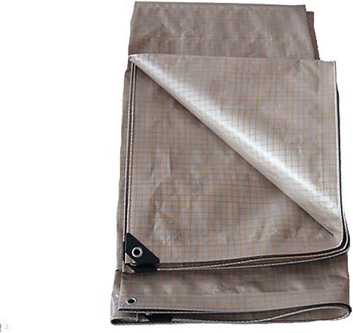 Tarpaulin HUO Bache Imperméable De Treillis, Feuille Résistante Anti-UV D'auvent De Poncho pour Le Transport De Stockage De Camion (Couleur   or+argent, Taille   6  8m)