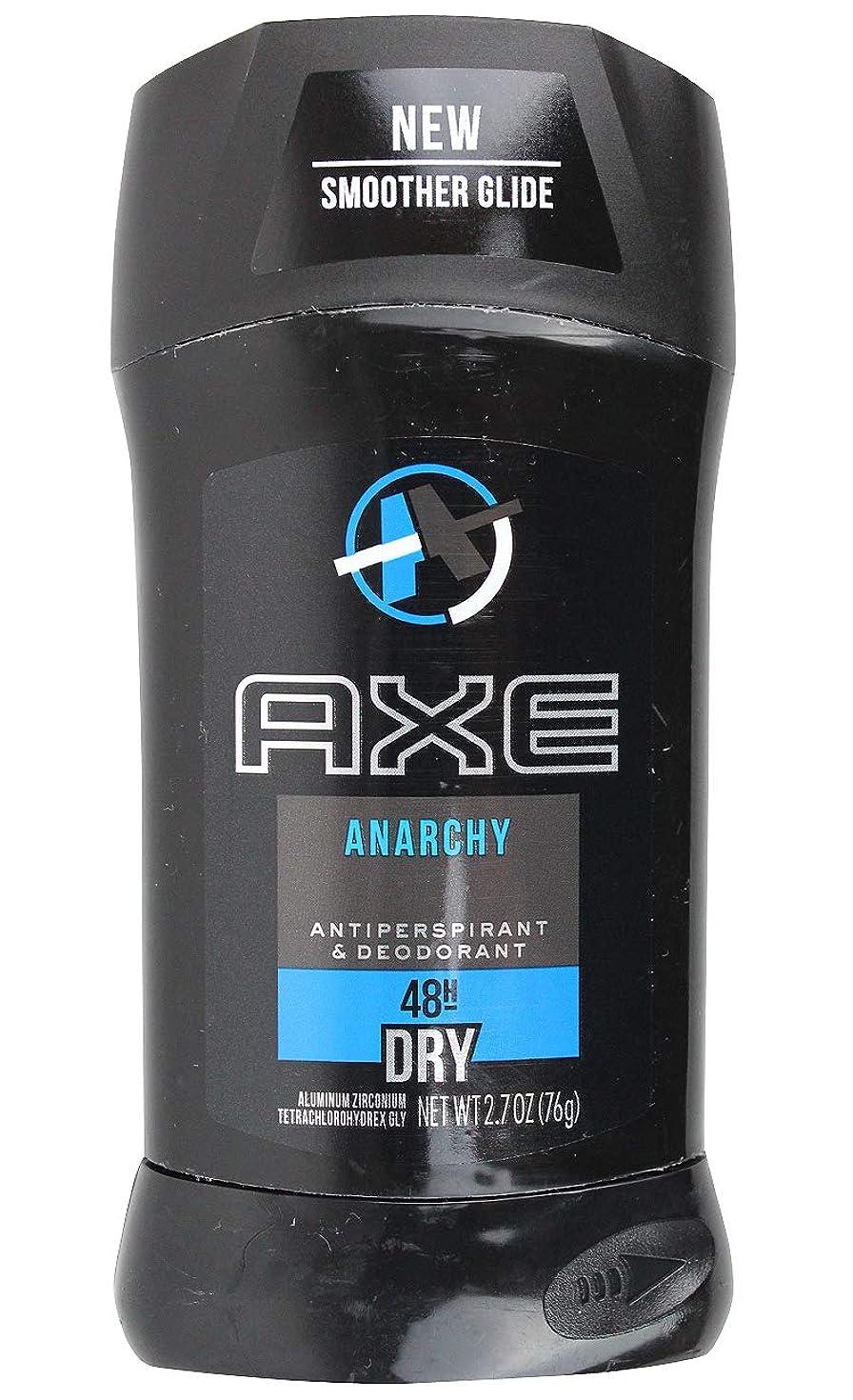 ピカリング軽減バッテリーアックス AXE メンズ デオドラント アナーキー 男性用 固形 制汗剤 48H ドライ 76g