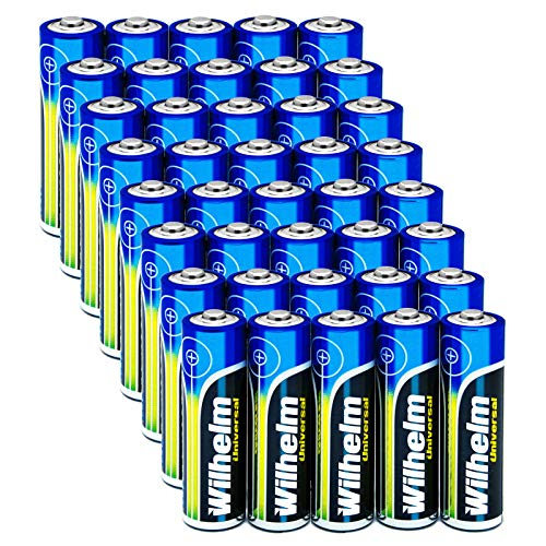 Wilhelm 40 AA Mignon Universal Alkaline Batterien im Shrink LR6…