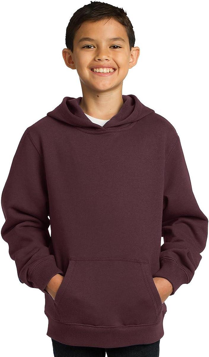 Sport-Tek Youth Comfortable Pullover Hooded Sweatshirt_Maroon