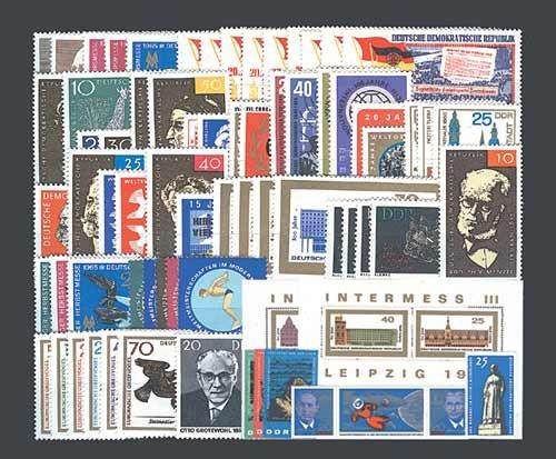 Goldhahn DDR Jahrgang 1965 postfrisch komplett Briefmarken für Sammler