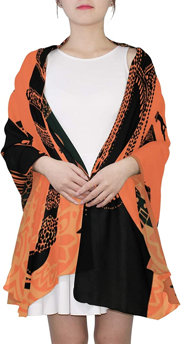 Beautiful Black African Woman Unique Fashion Scarf For Women Lightweight Fashion Fall Winter Print Scarves Shawl Wraps Gifts For Early Spring