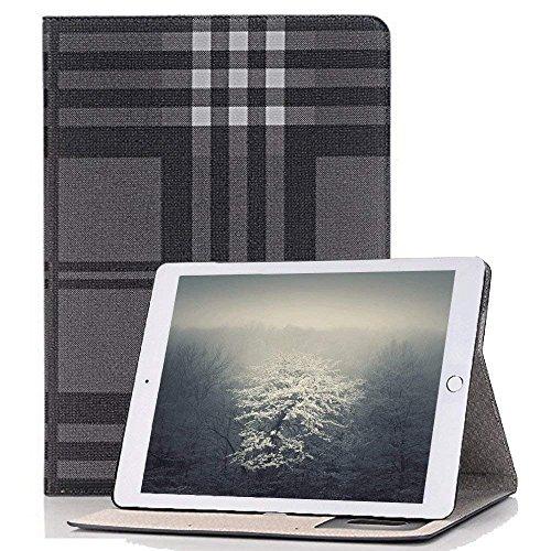 Housse à rabat en cuir synthétique - fermeture magnétique avec compartiments pour cartes - Fonction d'allumage et d'arrêt automatique - Elecfan® iPad Pro 12.9 A03