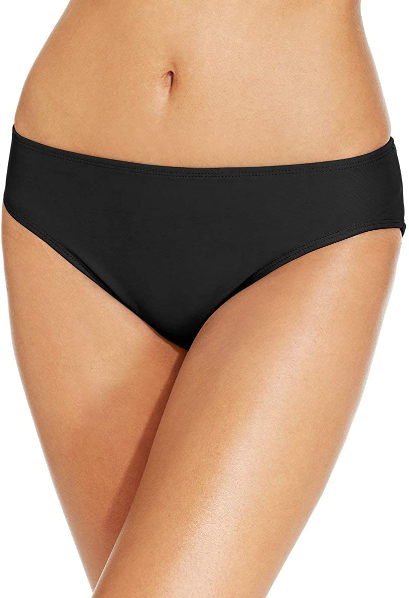 Island Escape La Palma Hipster Bikini Bottoms, Black, 12