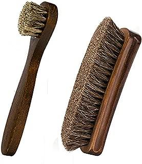 Horsehair Shoe Brush, IGIYI Shoe Shine Brushes, Horse Cleaning Polishing Kit