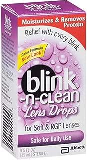 Blink-n-Clean Lens Drops for Soft & RGP Lenses, 0.5 Fluid Ounces (Value Pack of 10)