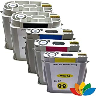 خراطيش حبر - 5 × بطاقة طابعة لطابعة 88XL المتوافقة مع OFFICEJET PRO L7400 L7480 L7550 L7580 L7590 L7650 L7700 L7780 L760 L...
