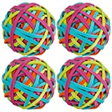 SUSSURRO 4 Rolls Elastic Rubber Band Balls, Assorted Color Elastic Stretchable Rubber Bands Band Loops for DIY Arts Crafts Document Office Supplies Organizing