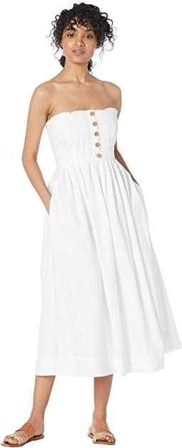 39753237ae27 Adelyn rae tube midi lace dress white | Shipped Free at Zappos