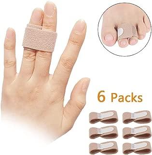 Finger Brace Splint for Arthritis Support Trigger Finger, Used for Index Middle Pinky Fingers, Toe Wraps Broken Toe Splint Straightener for Hammer Toe (Finger Brace 6pcs [Thin]) …