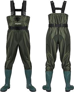 adeadores de Pesca en el Pecho,Impermeable Botas de Pesca PVC Vadeadores de Pesca Unisexo ENJOHOS Pantalones de Pesca
