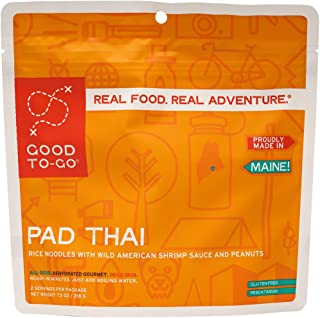 GOOD TO-GO Pad Thai | Dehydrated Backpacking and Camping Food | Lightweight | Easy to Prepare (Double Serving)