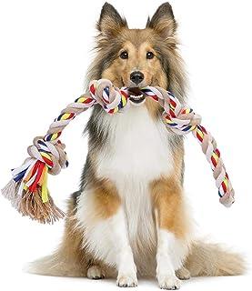 Nobleza - Cuerda de Juguete para Perros 100% algodón, beneficiosa para la Salud Mental del Perro, la Salud Dental y la Lim...