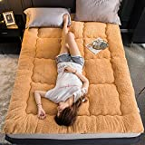 MB*ZL Mattress,Double Single Floor Mattress Japanese,Student Dormitory Folding Mattress,futon Floor Mattress,Soft and Breathable Tatami Fold Futon Thickness-Camel-180x200cm