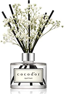 Cocod'or Preserved Real Flower Diffuser/April Fresh/6.7oz/Diffuser Oil & Sticks Set/Fragrance for Home Office Aromatherapy and Gifts