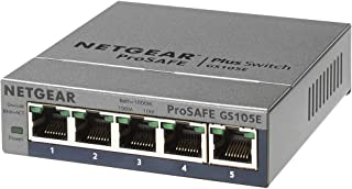 NETGEAR PROSAFE Plus 5 Port 10/1000 GIGABIT L2 Switch Desktop Life WTY