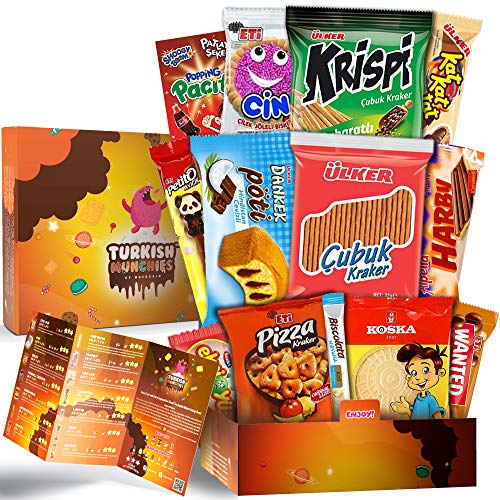 Midi Premium International Snacks Variety Pack Care Package, Ultimate Assortment of Turkish Treats, Mix variety pack of snacks, Best Foreign Candy or Foreign Snacks Box, Best Universal Yums, Munchpak