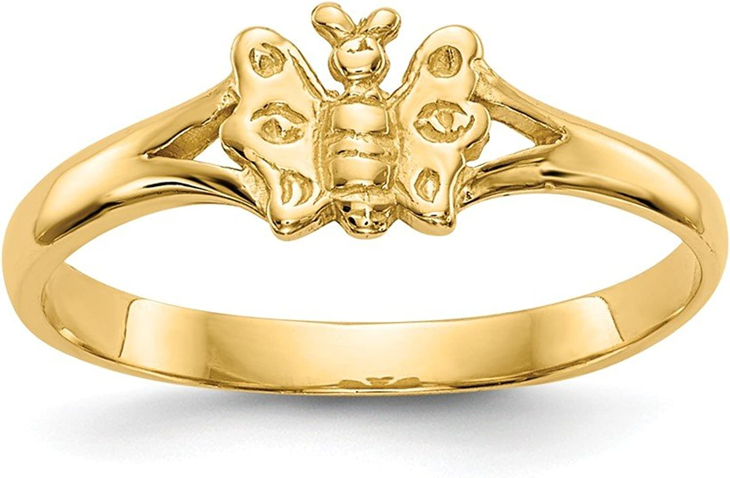 Beautiful Yellow gold 14K Yellowgold 14K Butterfly Baby Ring