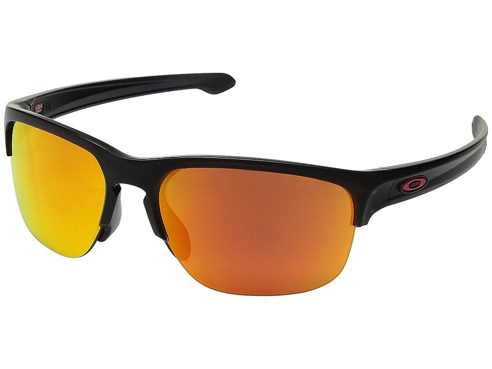 Oakley Sliver Edge (Matte Black Ink w/ Prizm Ruby) Sport Sunglasses