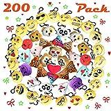 Paquete de 200 Almohadas de Felpa Emoji Mini Decoraciones de Llavero para Fiesta de cumpleaños, decoración del hogar, decoración de Paredes y Favor de Fiesta