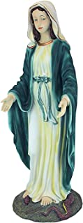 Dеsign Tоscаnо Outdoor Garden Backyard Décor Virgin Mary The Blessed Mother of The Immaculate Conception Religious Garden Statue, 23 Inch, Polyresin, Full Color