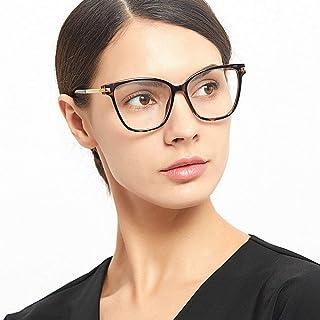 9eb5925a9da4 MINCL/Brand Designer Oversized Reading Glasses Women Vintage Square Clear Reading  Eyeglasses (Leopard,