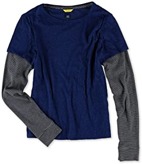Aeropostale Womens Layered Ls Graphic T-Shirt
