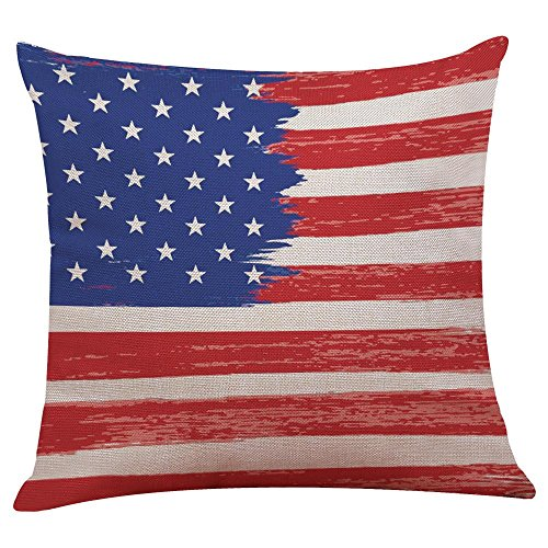 Vintage Look American Flag Pillow Cover