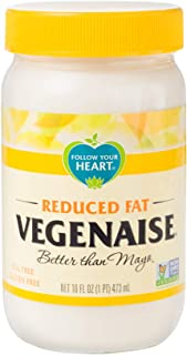 Follow Your Heart Non-GMO, Egg Free, Reduced Fat Vegenaise Vegan Mayo (16 ounce Pack of 6)