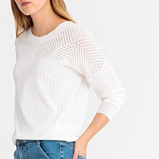 La Redoute Collections Womens Boat Neck Fine Openwork Knit Jumper/Sweater