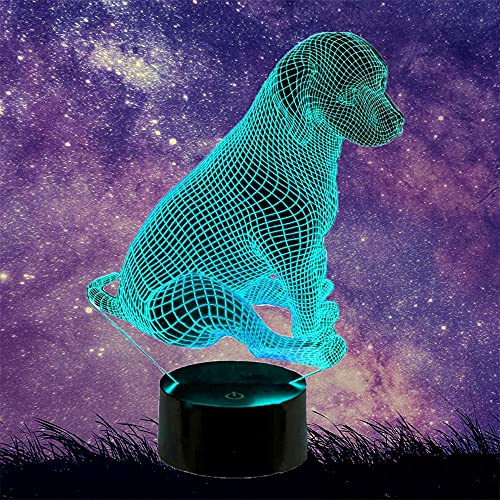 Dog 3D Night Light for Boys Playstation Lights 16 Color Change Decor Lamp - Perfect Gifts Birthday Festival Christmas for Baby Teens Friends