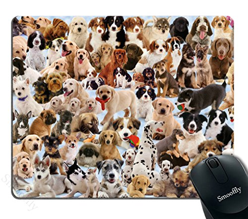 Smooffly Dogs Galore Mouse Pad Cute Puppies Pets Mouse Pads