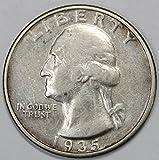 1935 P Silver Washington Quarter 25c XF