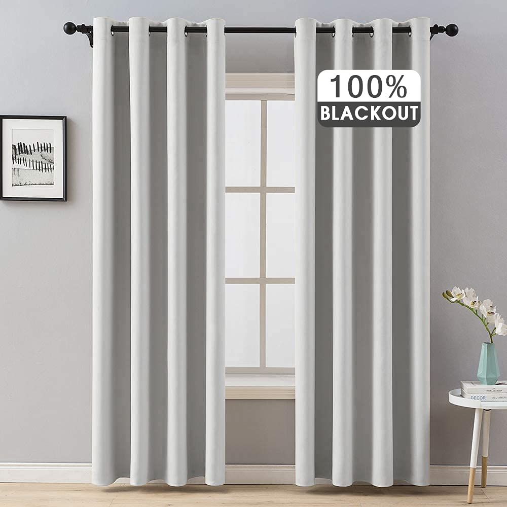 MIULEE 100% Blackout Curtains Thermal Grommet Solid Cu Insulated Selling and selling Max 43% OFF