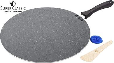 Super Classic Non-Stick Aluminium Flat Dosa Tawa Set, 3-Pieces, Grey (Grey Marble Flat Flat Dosa Tawa 360 MM)