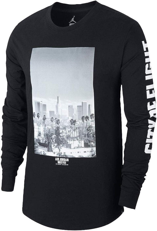Jordan Men's City of Flight Long Sleeve Shirt XXLarge Black