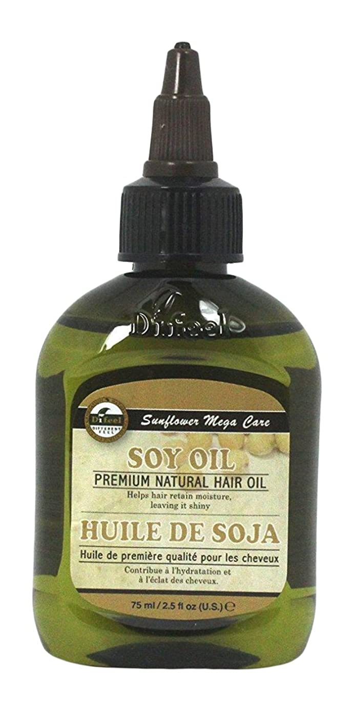 Difeel プレミアムナチュラルヘアオイル、大豆、70g