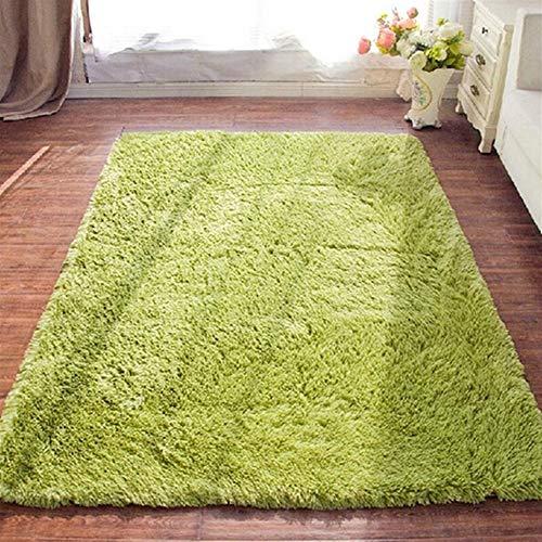 Jnszs Alfombra suave de piel sintética antideslizante para salón, dormitorio, hogar (color: rojo rosa, tamaño: 50 cm x 120 cm)