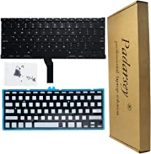 Padarsey Replacement Backlight Backlit Keyboard with 80 PCE Screws Compatible for MacBook Air 13-Inch A1369 A1466 MC965LL MC966LL EMC 2559 MD231LL/A MD760LL/A Series 2011 2012 2013 2014 2015