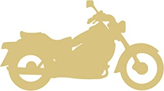 Motorcycle Style 1 Unfinished MDF Wood Cutout Variety of Sizes USA Made Decor (6