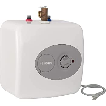 Bosch Electric Mini-Tank Water Heater Tronic 3000 T 4-Gallon (ES4) - Eliminate Time for Hot Water - Shelf, Wall or Floor Mounted
